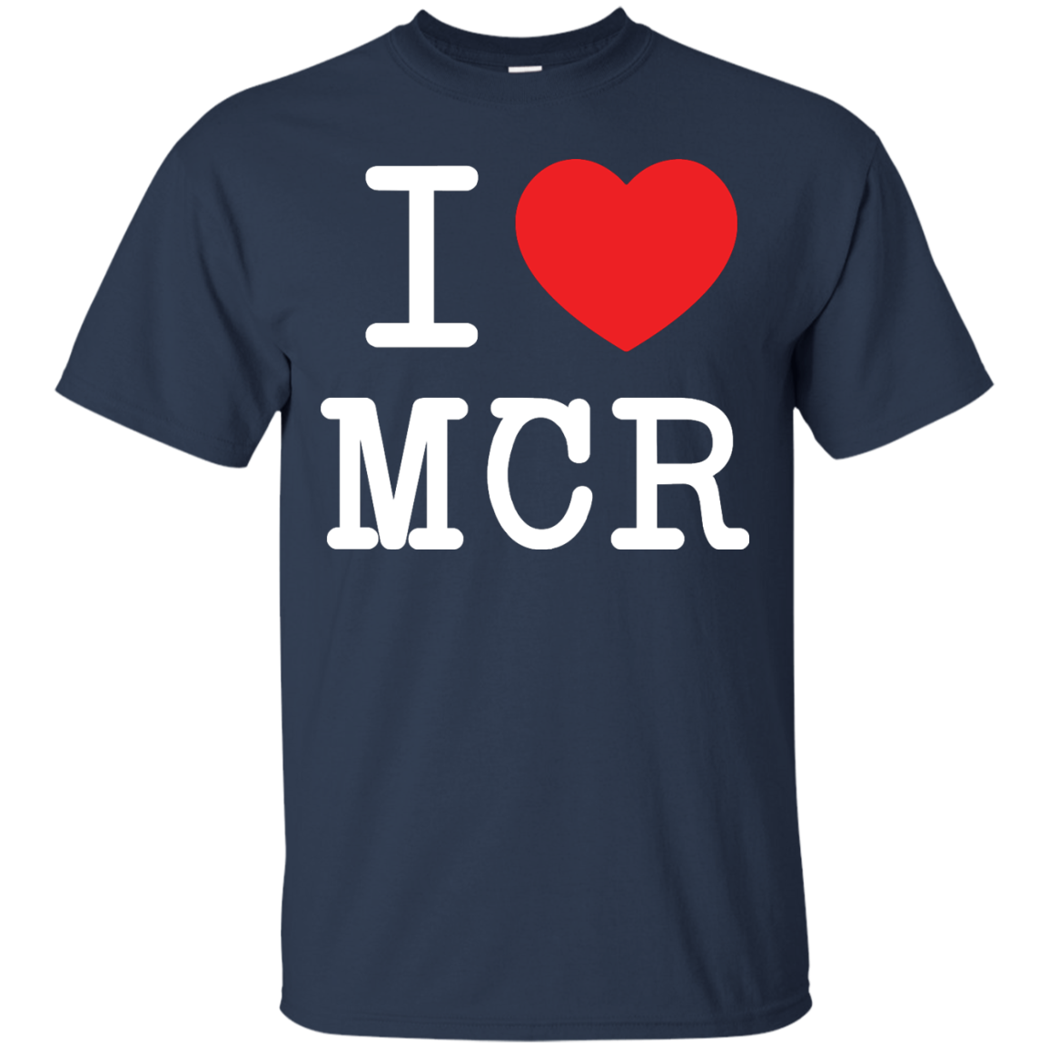 image 76px I Love Manchester T Shirts