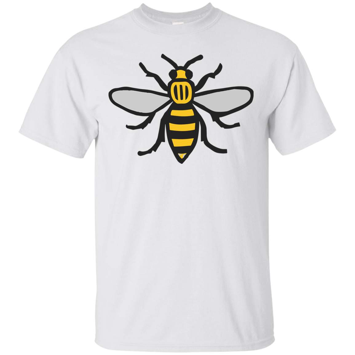 image 8px Manchester Bee, Symbol of Manchester T Shirts