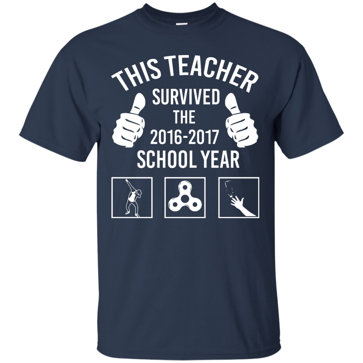 image 813px This Teacher Survived The 2016 2017 School Year T Shirts, Hoodies