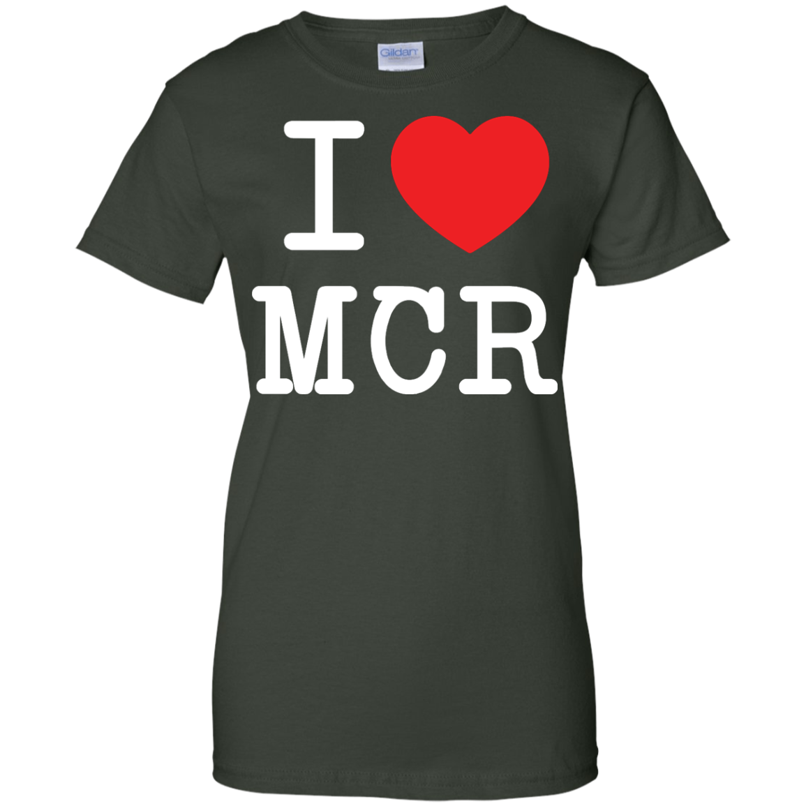 image 83px I Love Manchester T Shirts