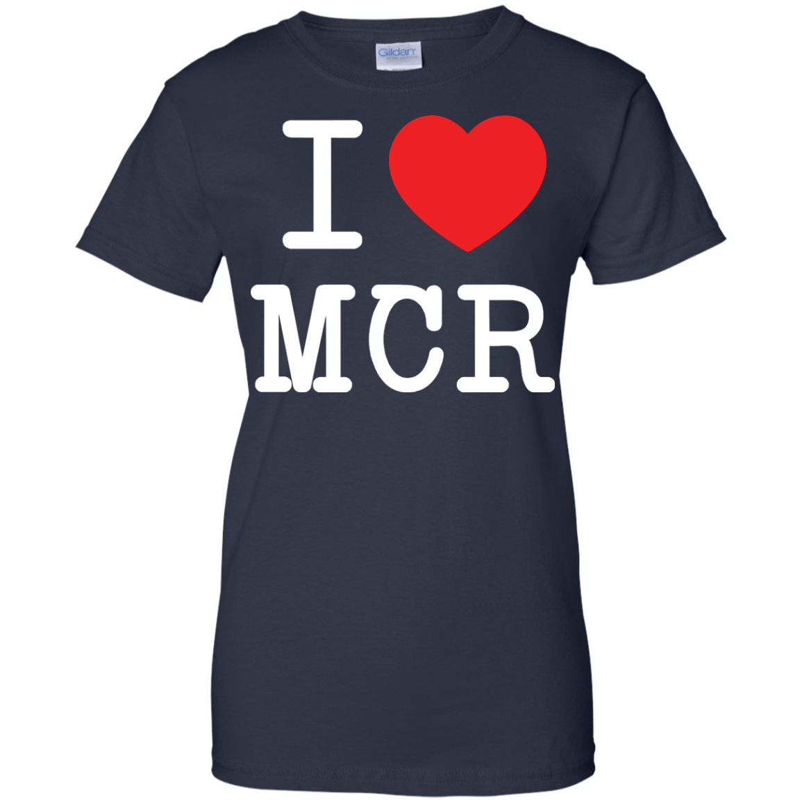 image 84px I Love Manchester T Shirts