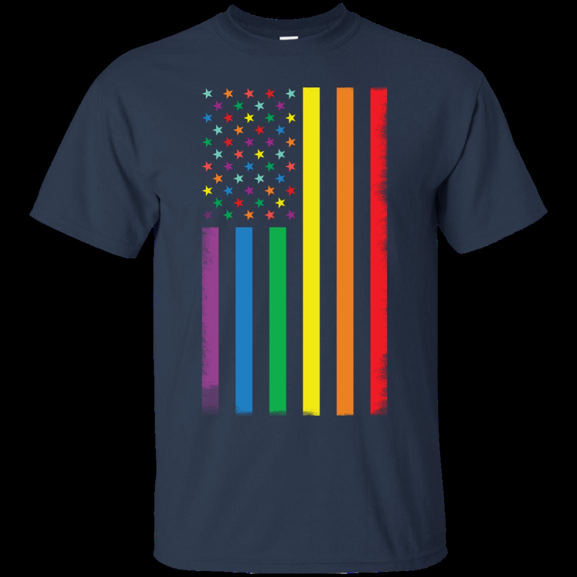 image 921px Rainbow American Flag LGBT Gay Flag T Shirts, Hoodies