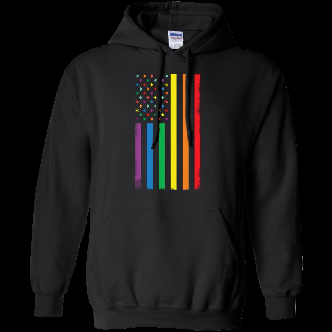 image 922px Rainbow American Flag LGBT Gay Flag T Shirts, Hoodies