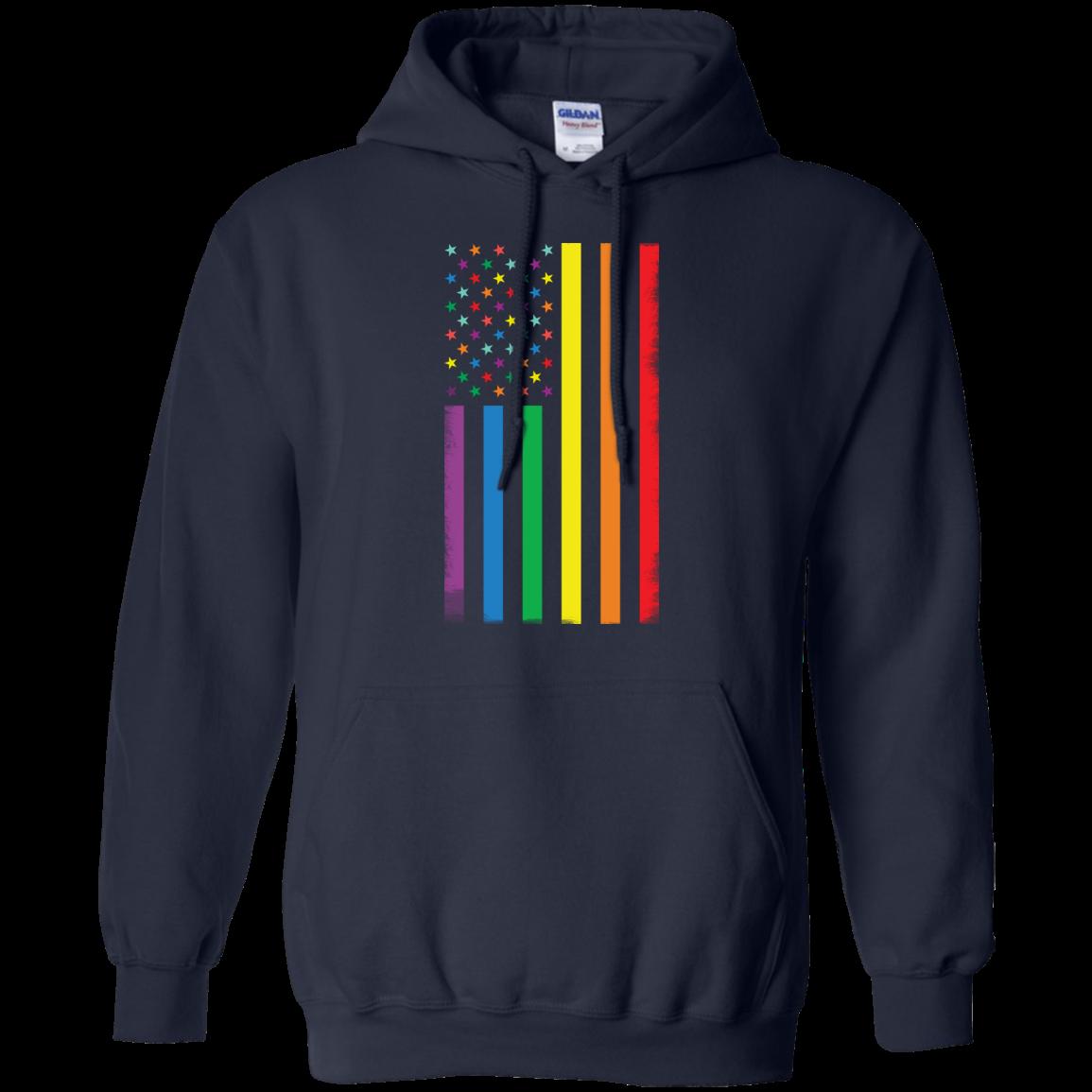 image 923px Rainbow American Flag LGBT Gay Flag T Shirts, Hoodies