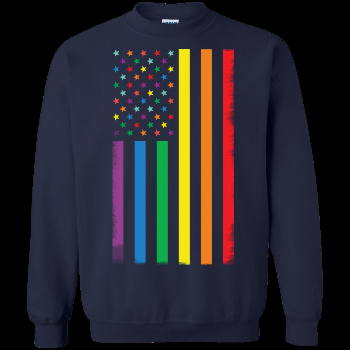 image 925px Rainbow American Flag LGBT Gay Flag T Shirts, Hoodies