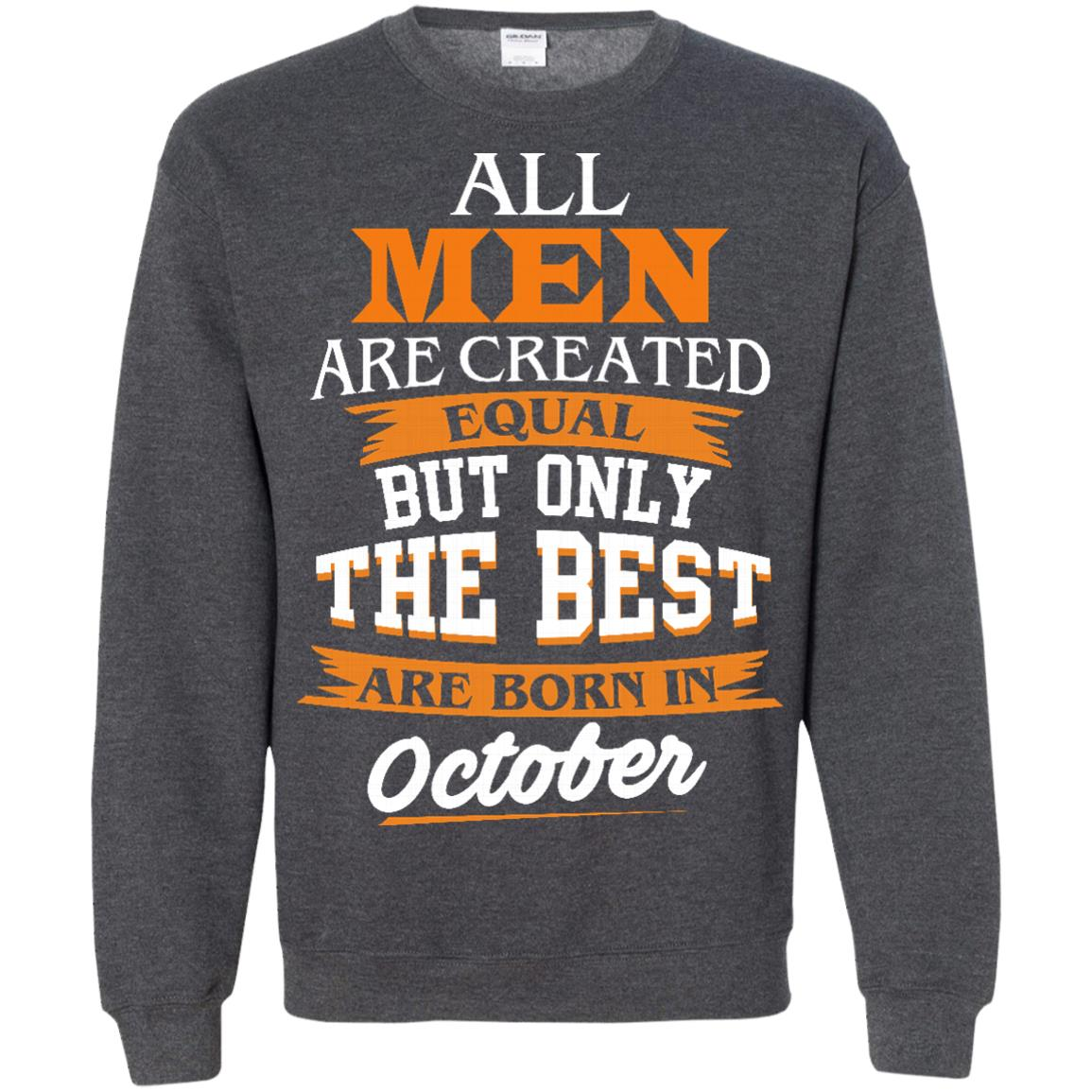 image 128px Jordan: All men are created equal but only the best are born in October t shirts