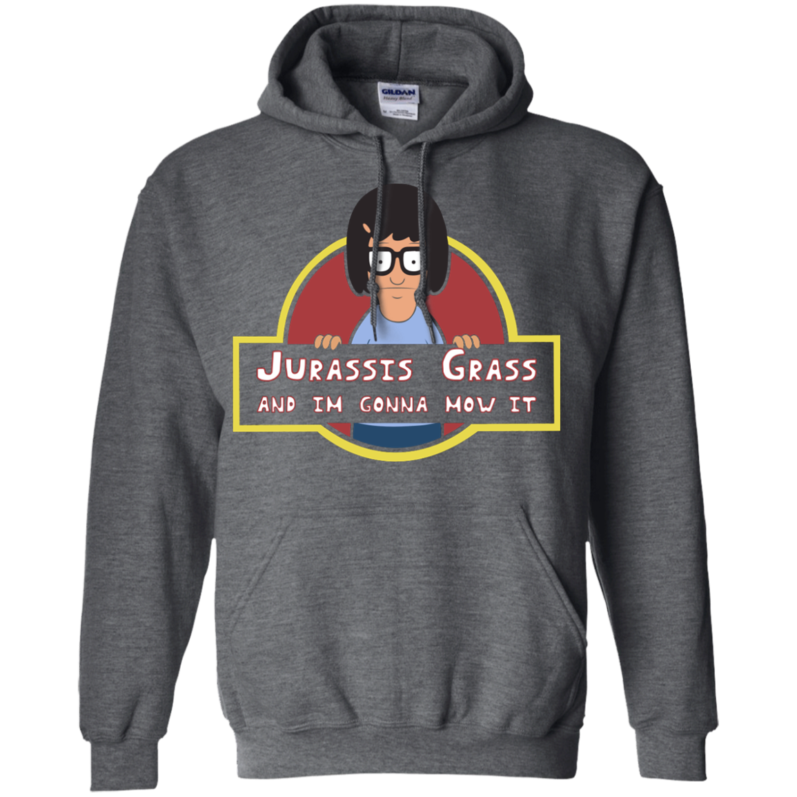 image 248px Bob's Burgers: Jurassis Grass And I'm Gonna Mow It T Shirts, Tank Top, Sweaters
