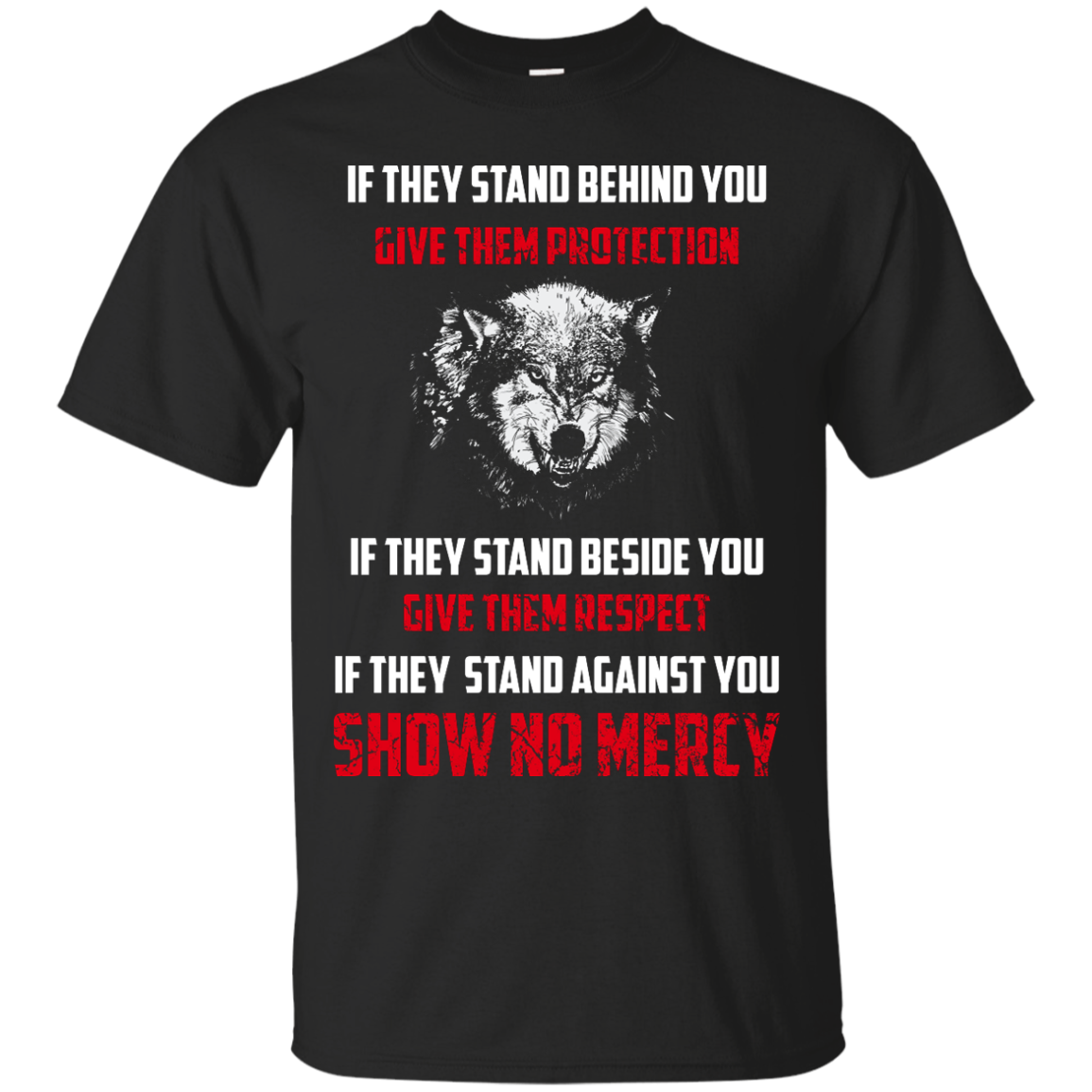 image 255px If They Stand Behind You Give Them Protection If They Stand Beside You Give Them Respect T Shirts