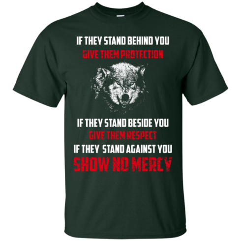 image 256 490x490px If They Stand Behind You Give Them Protection If They Stand Beside You Give Them Respect T Shirts