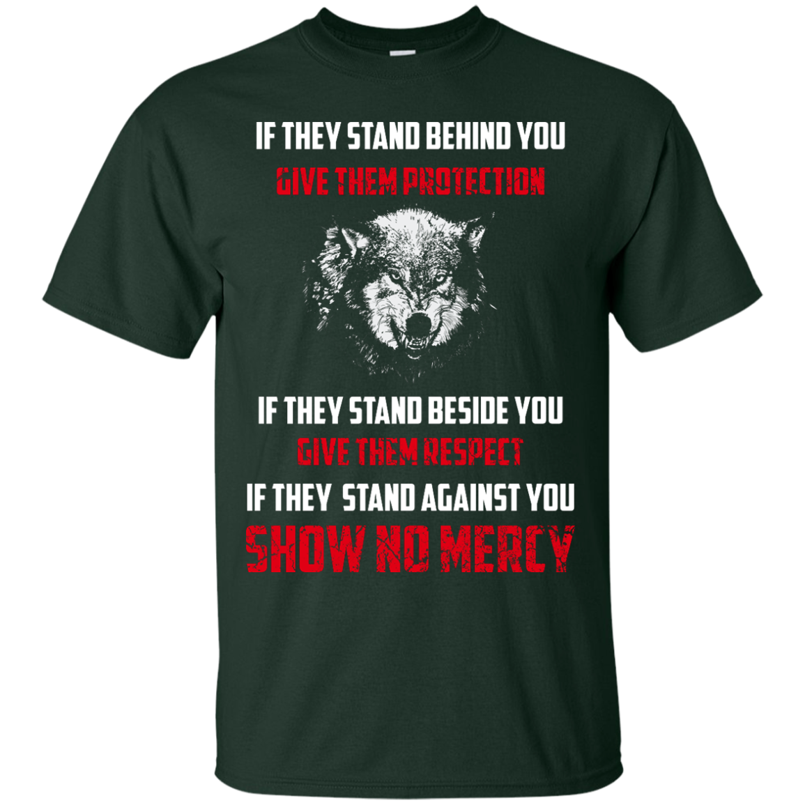 image 256px If They Stand Behind You Give Them Protection If They Stand Beside You Give Them Respect T Shirts