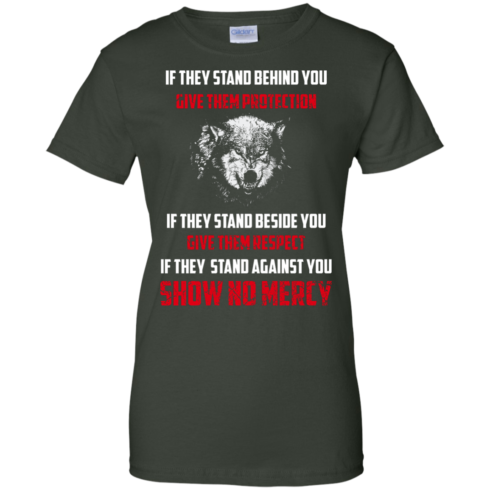 image 265 490x490px If They Stand Behind You Give Them Protection If They Stand Beside You Give Them Respect T Shirts