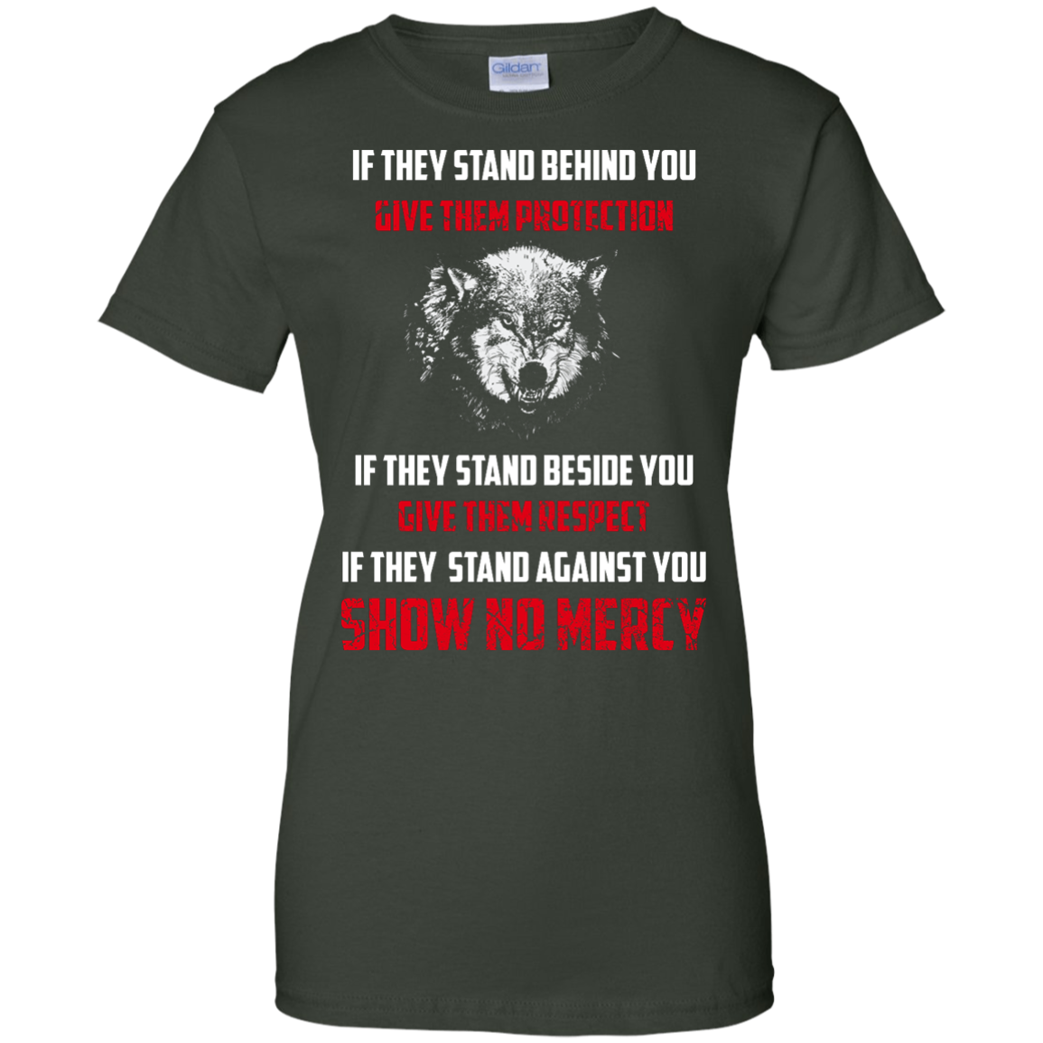 image 265px If They Stand Behind You Give Them Protection If They Stand Beside You Give Them Respect T Shirts