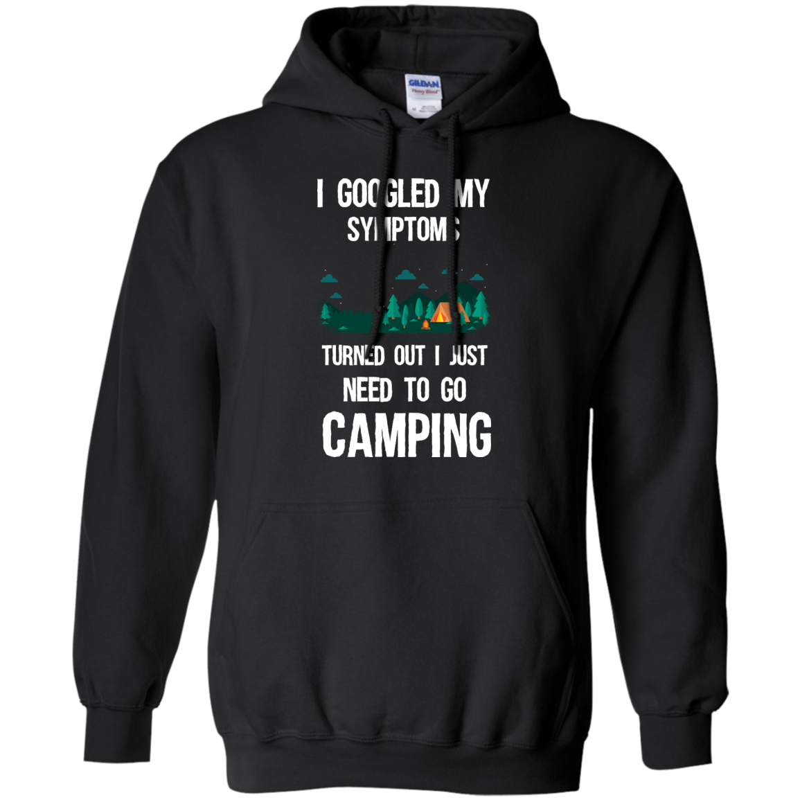 image 296px I Googled My Symptoms Turned Out I Just Need To Go Camping T Shirts, Hoodies