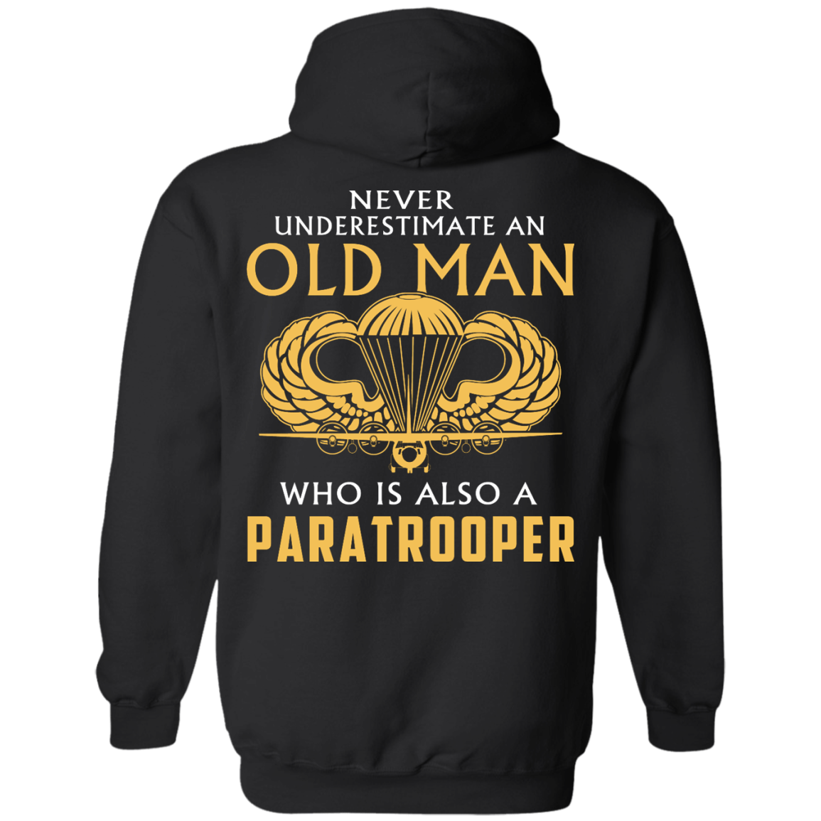 image 341px Never underestimate an old man who is Paratrooper t shirts, hoodies