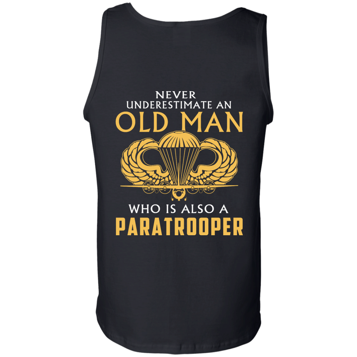 image 347px Never underestimate an old man who is Paratrooper t shirts, hoodies