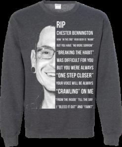 image 366 247x296px Linkin Park Rip Chester Bennington, Breaking The Habit T Shirts, Hoodies, Sweater