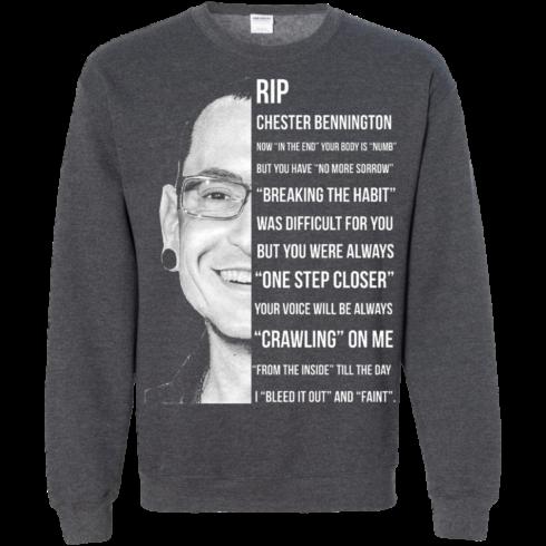 image 366 490x490px Linkin Park Rip Chester Bennington, Breaking The Habit T Shirts, Hoodies, Sweater
