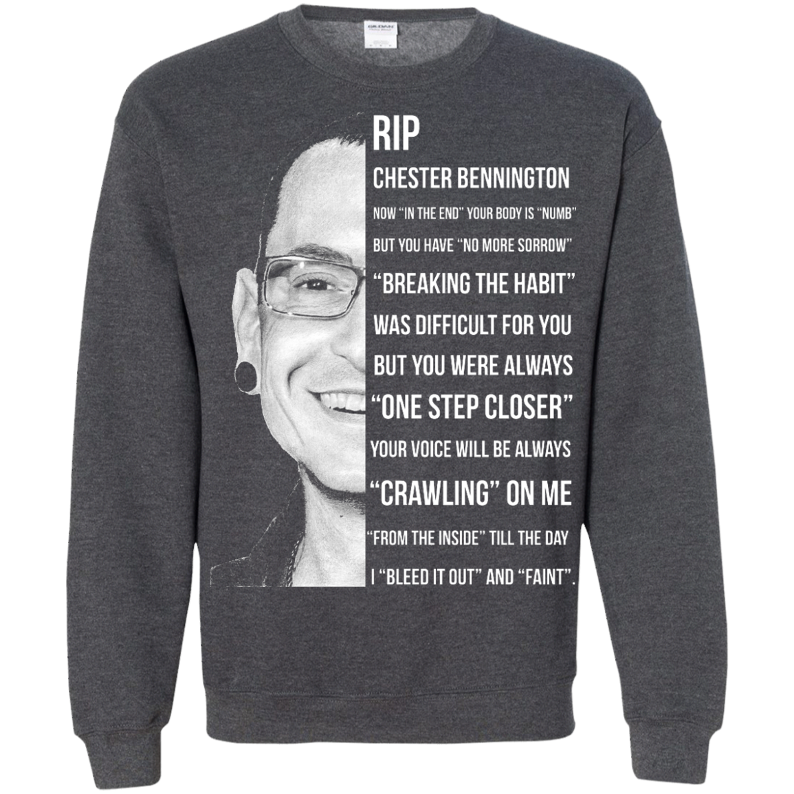 image 366px Linkin Park Rip Chester Bennington, Breaking The Habit T Shirts, Hoodies, Sweater
