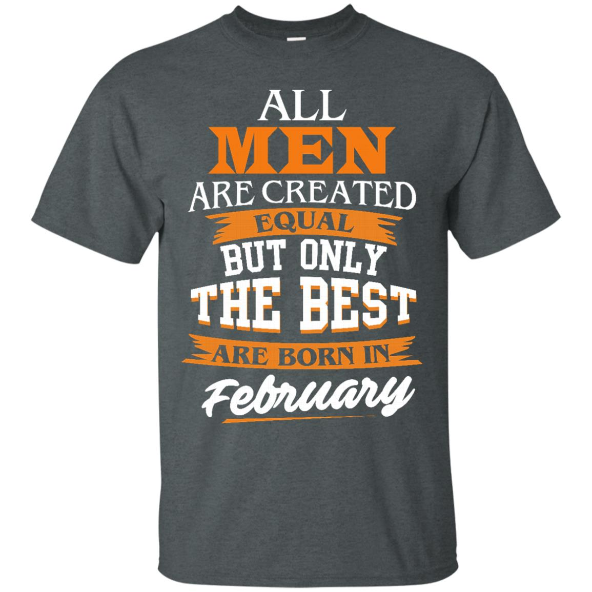 image 37px Jordan: All men are created equal but only the best are born in February t shirts
