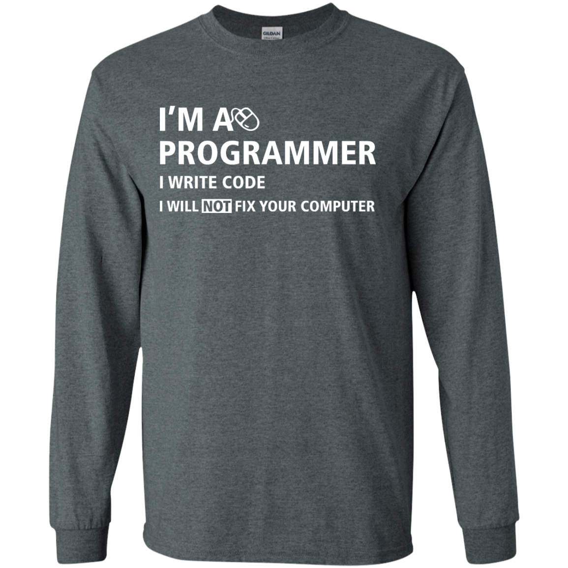 image 374px I'm a programmer I write code I will not fix your computer t shirts, tank top, hoodies
