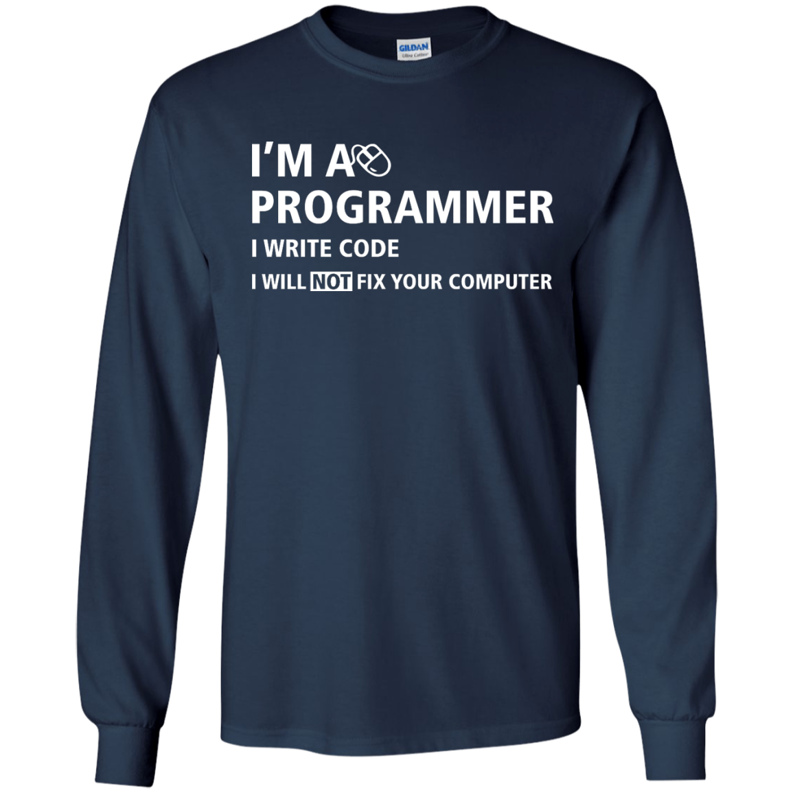 image 375px I'm a programmer I write code I will not fix your computer t shirts, tank top, hoodies