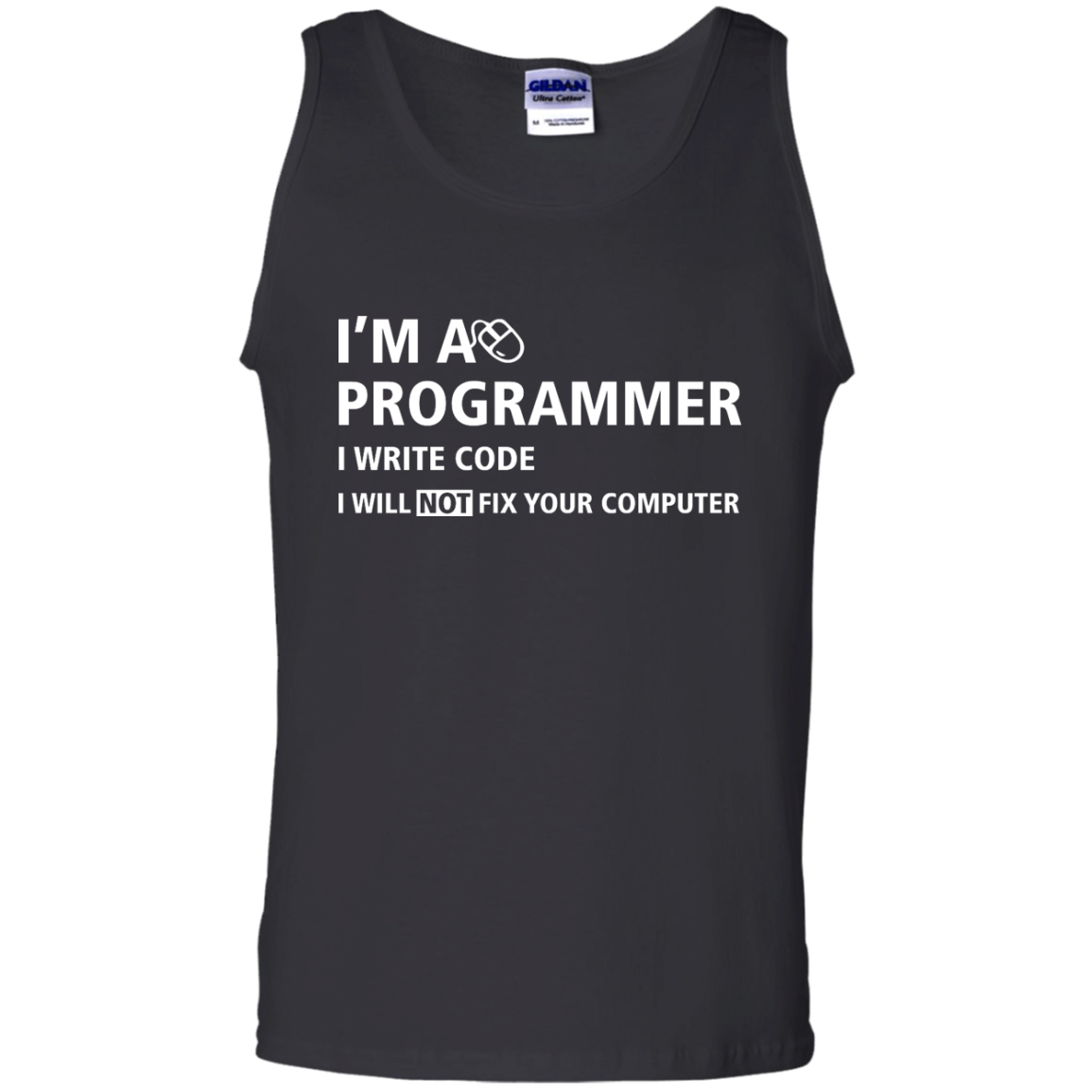 image 379px I'm a programmer I write code I will not fix your computer t shirts, tank top, hoodies