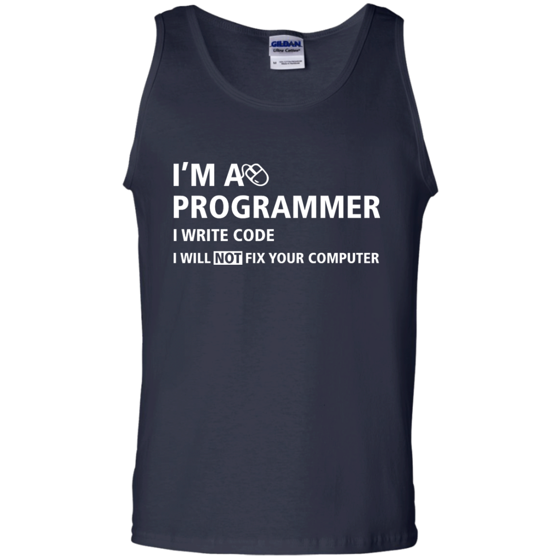 image 380px I'm a programmer I write code I will not fix your computer t shirts, tank top, hoodies