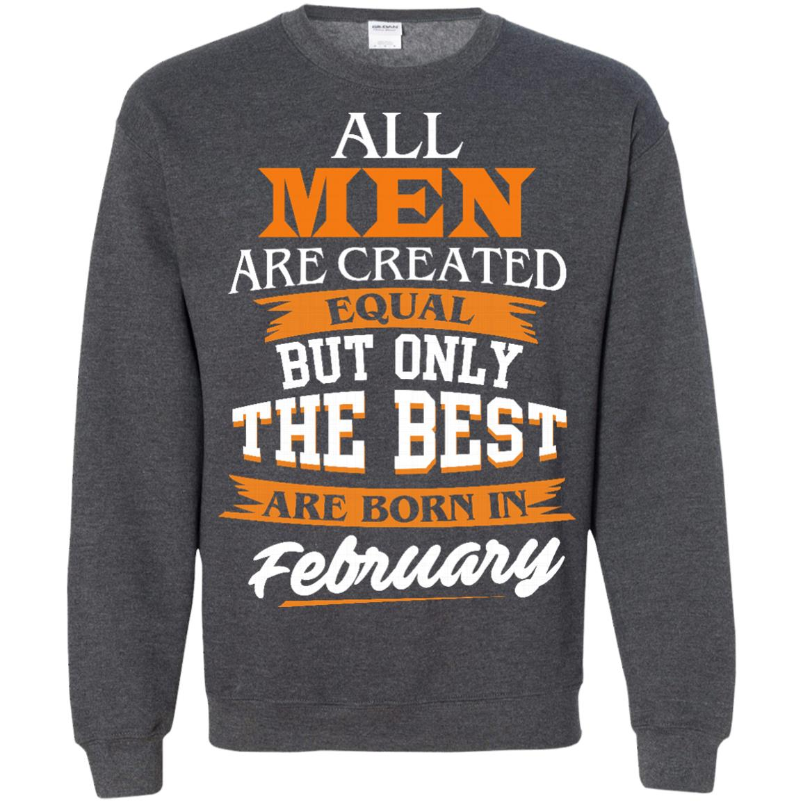 image 44px Jordan: All men are created equal but only the best are born in February t shirts