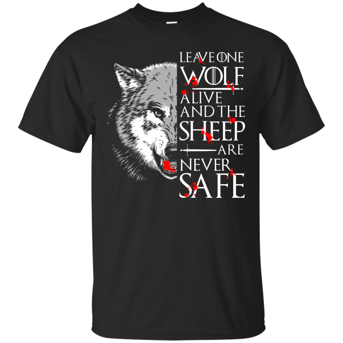 image 487px Leave One Wolf Alive And The Sheep Are Never Safe T Shirts, Hoodies, Tank