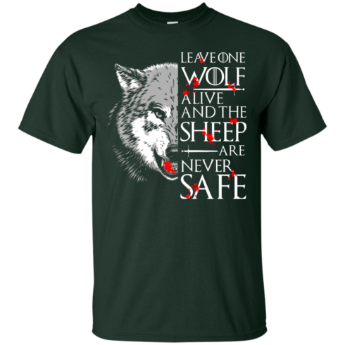 image 488 490x490px Leave One Wolf Alive And The Sheep Are Never Safe T Shirts, Hoodies, Tank