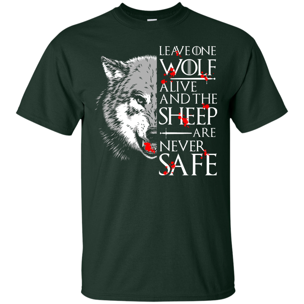 image 488px Leave One Wolf Alive And The Sheep Are Never Safe T Shirts, Hoodies, Tank