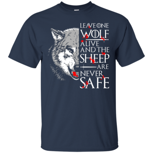 image 489 490x490px Leave One Wolf Alive And The Sheep Are Never Safe T Shirts, Hoodies, Tank