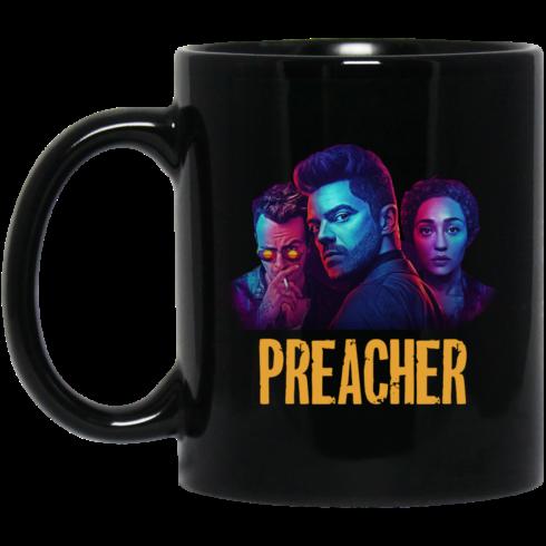 image 490x490px Preacher Season 2 Comic Book Cult Tv Show Mug Coffee