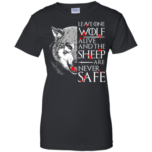 image 495 490x490px Leave One Wolf Alive And The Sheep Are Never Safe T Shirts, Hoodies, Tank