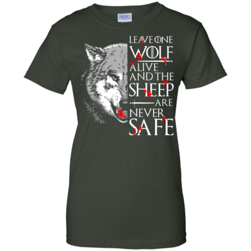 image 496 490x490px Leave One Wolf Alive And The Sheep Are Never Safe T Shirts, Hoodies, Tank