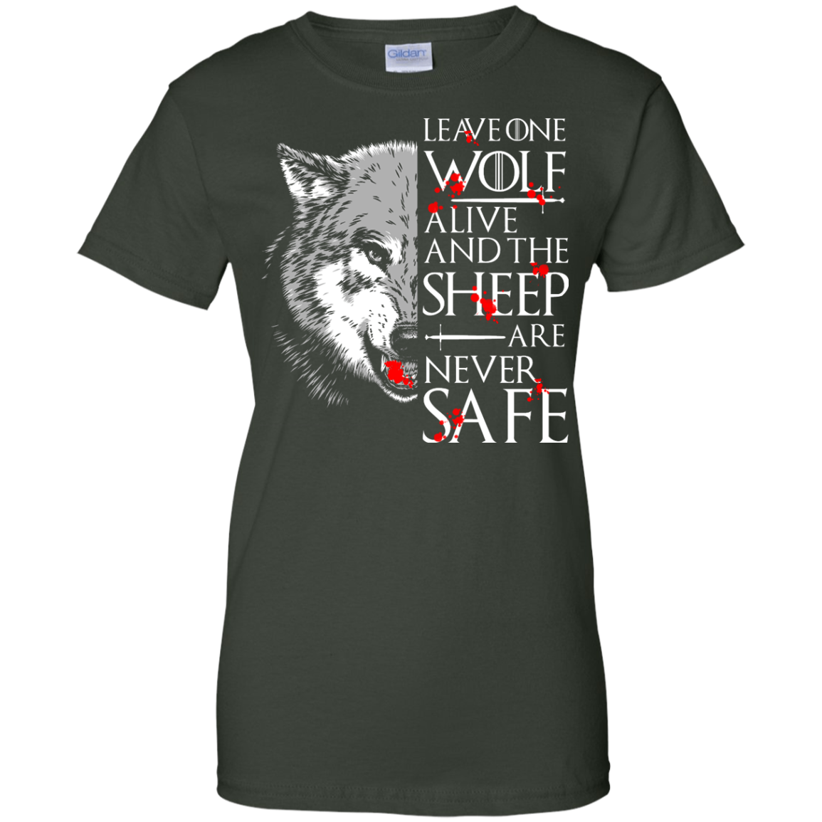 image 496px Leave One Wolf Alive And The Sheep Are Never Safe T Shirts, Hoodies, Tank