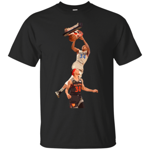 image 556 490x490px Giannis dunk on Steph Curry in the All Star Game T Shirts, Hoodies, Sweaters