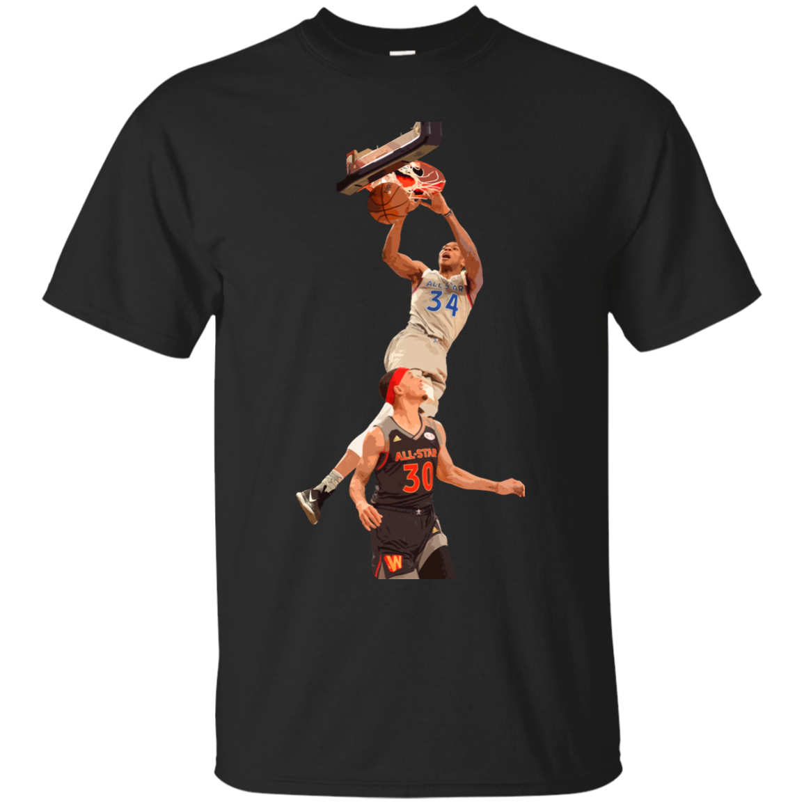 image 556px Giannis dunk on Steph Curry in the All Star Game T Shirts, Hoodies, Sweaters