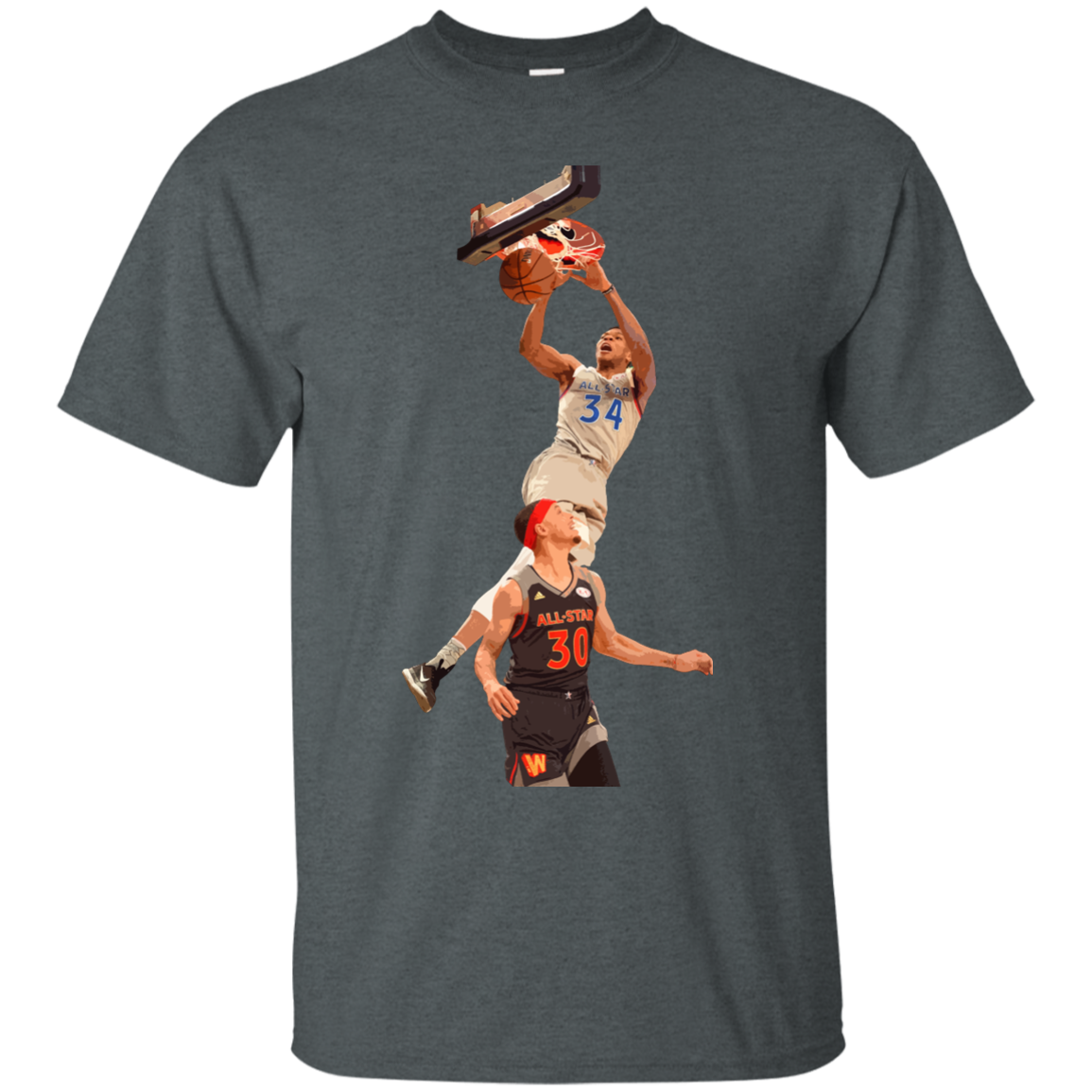 image 557px Giannis dunk on Steph Curry in the All Star Game T Shirts, Hoodies, Sweaters