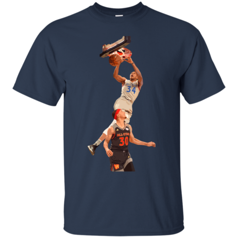 image 558 490x490px Giannis dunk on Steph Curry in the All Star Game T Shirts, Hoodies, Sweaters