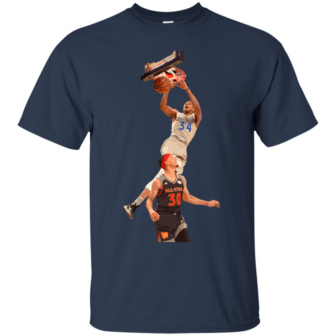 image 558px Giannis dunk on Steph Curry in the All Star Game T Shirts, Hoodies, Sweaters