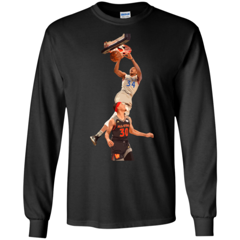 image 559 490x490px Giannis dunk on Steph Curry in the All Star Game T Shirts, Hoodies, Sweaters