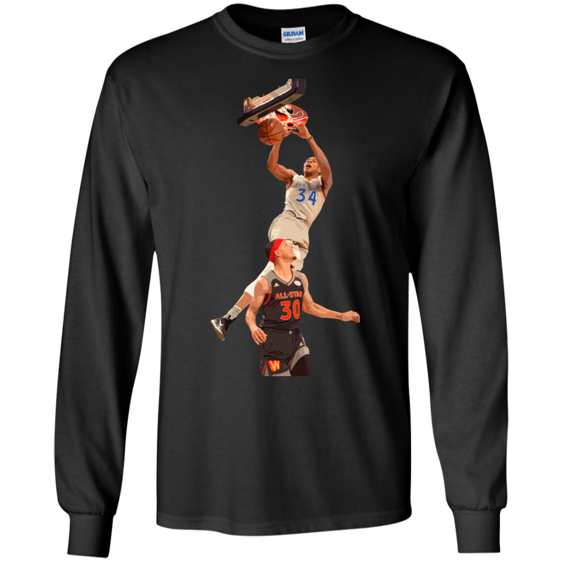 image 559px Giannis dunk on Steph Curry in the All Star Game T Shirts, Hoodies, Sweaters