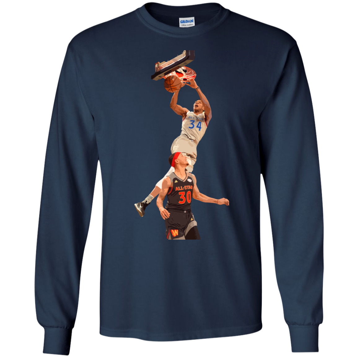 image 560px Giannis dunk on Steph Curry in the All Star Game T Shirts, Hoodies, Sweaters
