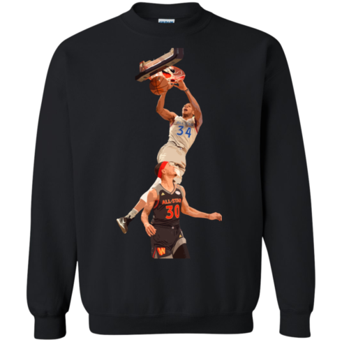 image 563 490x490px Giannis dunk on Steph Curry in the All Star Game T Shirts, Hoodies, Sweaters