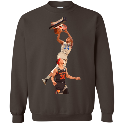 image 564 490x490px Giannis dunk on Steph Curry in the All Star Game T Shirts, Hoodies, Sweaters