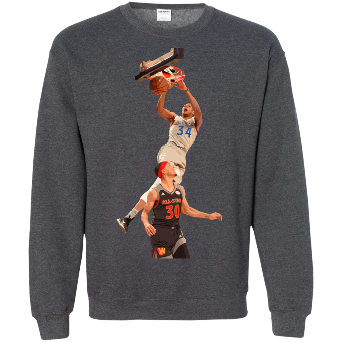 image 565px Giannis dunk on Steph Curry in the All Star Game T Shirts, Hoodies, Sweaters