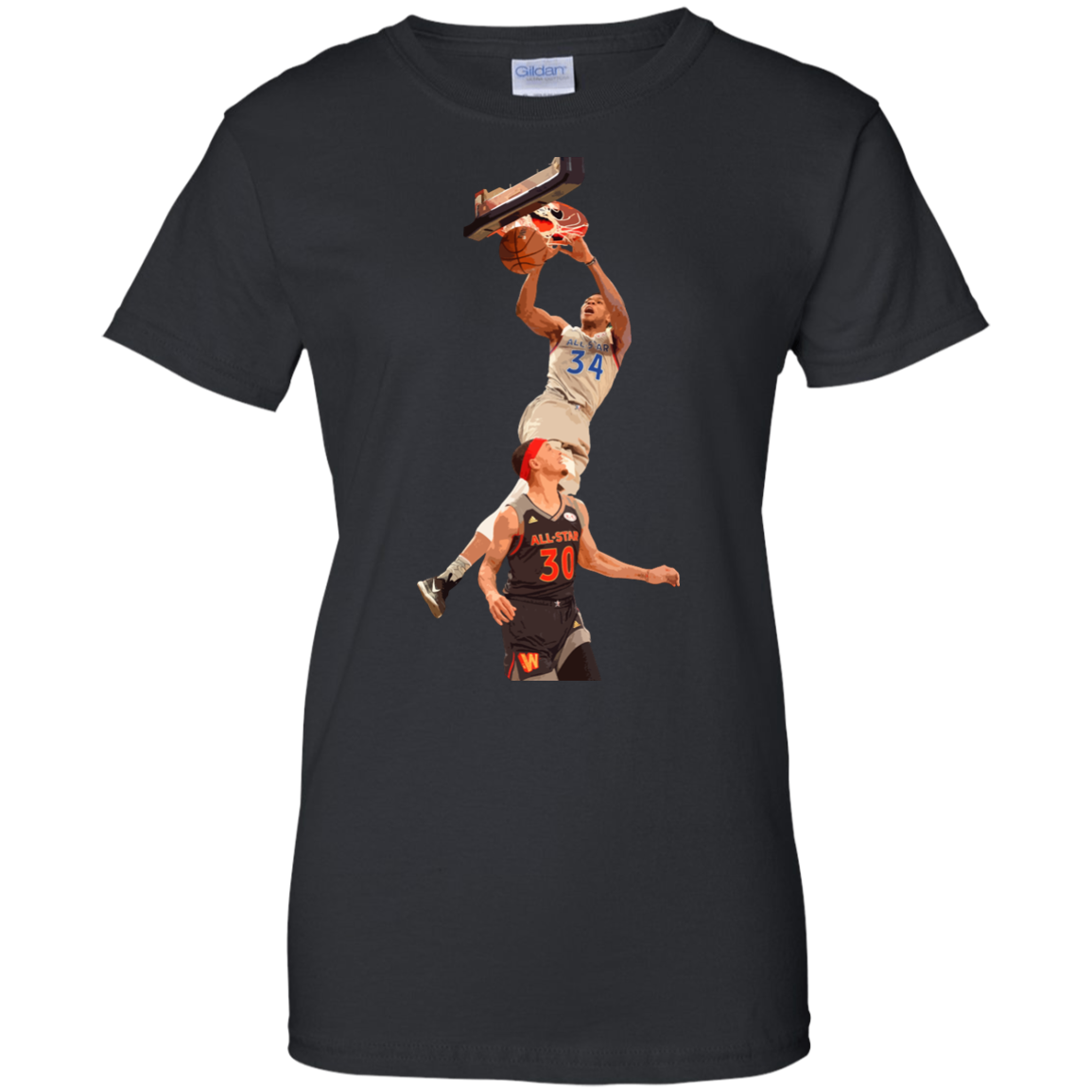 image 566px Giannis dunk on Steph Curry in the All Star Game T Shirts, Hoodies, Sweaters