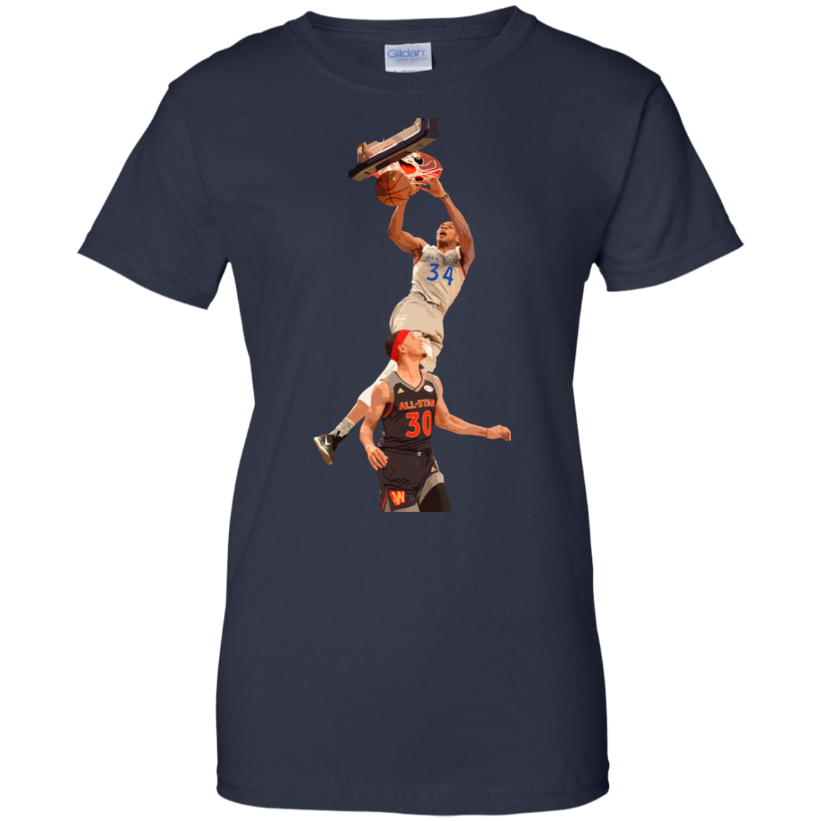 image 567px Giannis dunk on Steph Curry in the All Star Game T Shirts, Hoodies, Sweaters