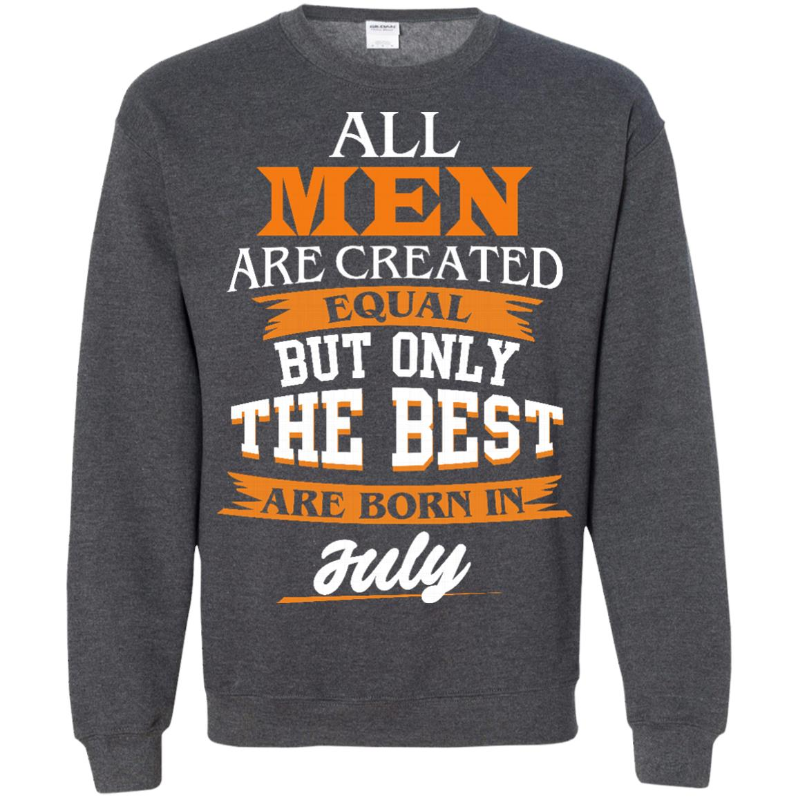 image 68px Jordan: All men are created equal but only the best are born in July t shirts